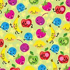 fun &#x27;n fruity kawaii pattern for iPhone by jillhowarth