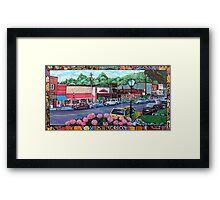'Downtown Blowing Rock' Framed Print