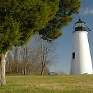 Turkey Point Light by Thom  Perry