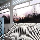 Deck Bench Sunset - Hills of TN by JeffeeArt4u