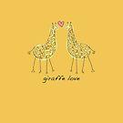 Giraffe Love by flyingpantaloon