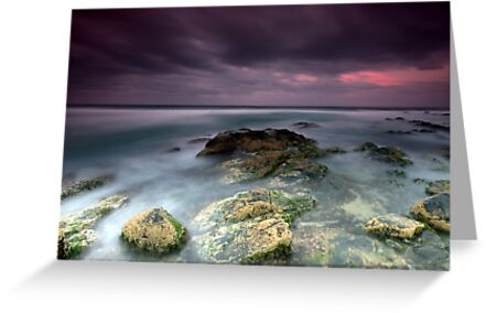 Sunset at Stoney Beach, Tuross Head, NSW by Melanie Roberts