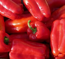 Peppers in the sun by Paul Pasco