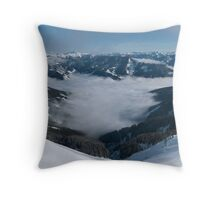 The Clouded Valley Throw Pillow