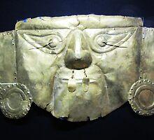 Golden Incan Mask by SlenkDee