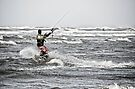 North Sea kitesurfing by Ulla Jensen