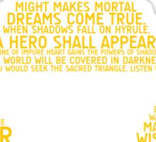 Legend of Zelda Typography Sticker