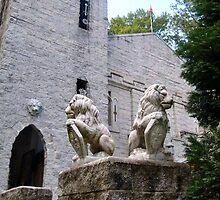 Lions Guard the Castle - the Pax Amicus Castle Theatre by Jane Neill-Hancock