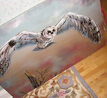 Owl Painting by JeffeeArt4u
