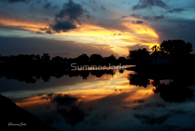 Surreal Perfection ~ Sunset Reflection by SummerJade