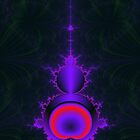 Mandelbrot in Purple and Red by Objowl
