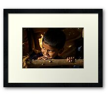 New Year's Light Framed Print
