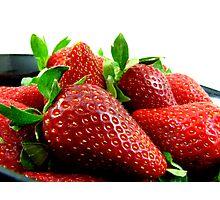 Fresh Juicy Strawberries Photographic Print