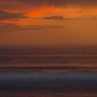 Fire sunset on Angelsea Beach  by Nick Browne