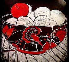 """Red Apple  by Belinda """"BillyLee"""" NYE (Printmaker)"""