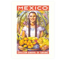 Mexico Travel Poster 2 Art Print