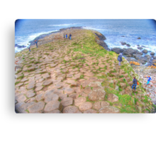 Mythical steeped -Giant's Causeway Canvas Print