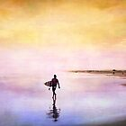 Sunset Surf  by Annette Blattman