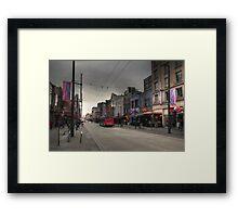Entertainment street Framed Print