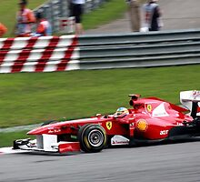 Fernando Alonso in his Ferrari  by 3rdeyelens