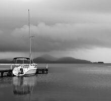 Storm over Wallis Lake by Chris  Randall