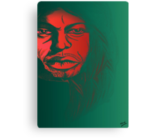 David Gilmour from Pink Floyd Caricature Canvas Print