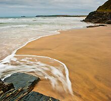 sea of Gwithian, Cornwall by aaronnaps