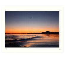 Sunset on Lake Wisconsin Art Print