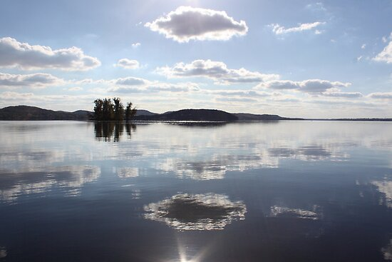 Mirror Clouds on Lake Wisconsin by Thomas Murphy
