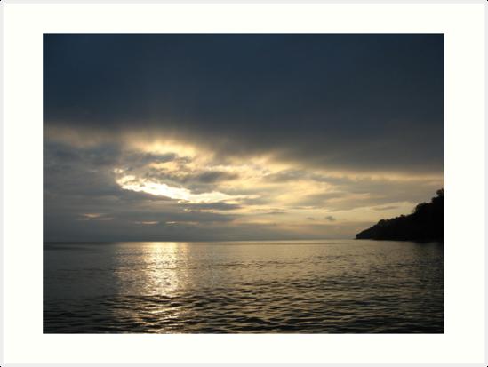 Time Rift Clouds over Lake Michigan 452 by Thomas Murphy