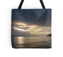 Time Rift Clouds over Lake Michigan 452 Tote Bag