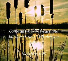 Matthew 11:28 by Pietrina Elena