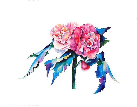 Carmel Begonia  by Pat Yager