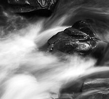 Falls of Bruar - Water Detail 3 by Kevin Skinner