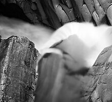 Falls of Bruar - Water Detail 5 by Kevin Skinner
