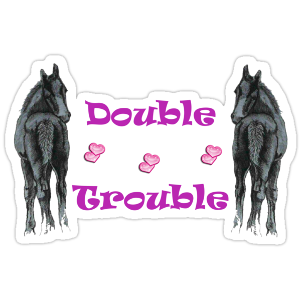 Cute Double Trouble Foals T-shirts by Patricia Barmatz