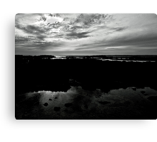 Silver Volcanic Seascape Canvas Print