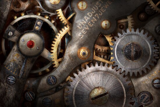 Steampunk - Gears - Horology by Mike  Savad