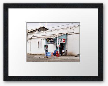 Framed print, charcoal box frame and bright white matte