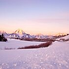 Sunrise in the Tetons, Wyoming USA! by Nancy Richard