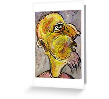 Caricature of a Wise Man Greeting Card