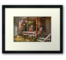 House - Porch - Traditional American Framed Print