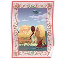 Wet Fresco Mermaid - Diesel Punk Poster