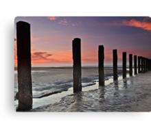 Stevenston Beach Dawn Canvas Print