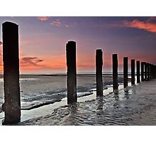 Stevenston Beach Dawn Photographic Print