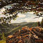 Landscape Painting - Rocky Mountain View II - 6&quot; x 8&quot; Oil by Daniel Fishback