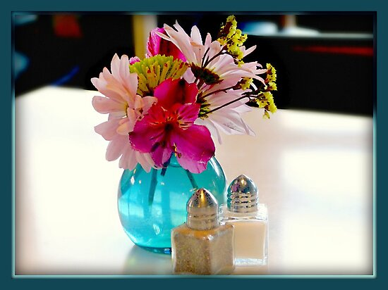 Flowers on the table by Scott Mitchell
