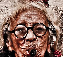 Cuban Lady with cigar by ilanasal