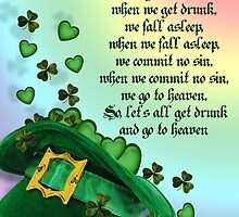 Irish blessing leprechaun hat by Irisangel