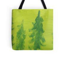 Impression Green Land Pine Trees Tote Bag